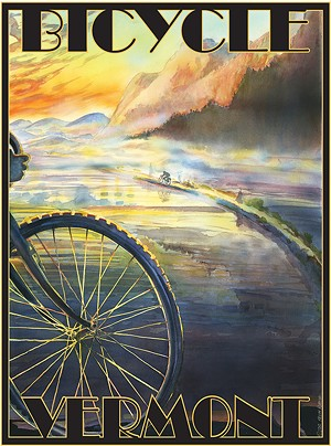 "COURTESY OF VINTAGE INSPIRED - ""Bicycle Vermont"" by Kevin Ruelle"