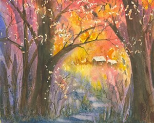 "COURTESY OF ESSEX ART LEAGUE - ""A Walk in the Woods"" Lynn Magie"
