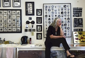 Van Fleet in her Studio - Uploaded by Studio Place Arts