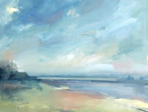 """COURTESY OF THE S.P.A.C.E. GALLERY - """"Provincetown Bay"""" by Julie Davis"""