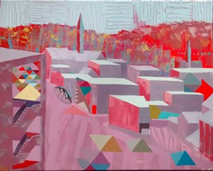 """""""I Can See Prospect Street From Here (Floating Triangles),"""" by James Secor - Uploaded by info@thefrontvt.com"""