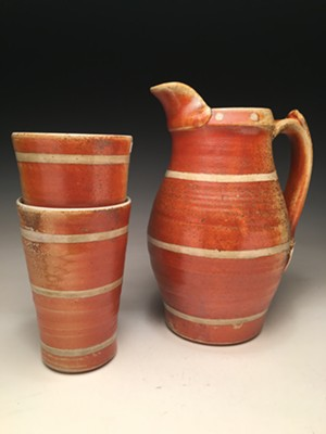 Pitcher and tumblers by Rising Meadow Pottery - Uploaded by vtcrafts
