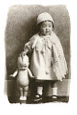Japanese Girl and Kewpie Doll, 1930s, sepia-toned by Jordan Douglas - Uploaded by ashley roark