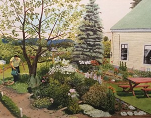 COURTESY OF WATERBURY PUBLIC LIBRARY - Painting by Corliss Griffith