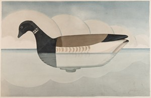 "COURTESY OF THE SHELBURNE MUSEUM - ""Brant 1952"" by Joel Barber"