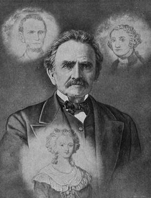 COURTESY OF HENRY SHELDON MUSEUM - Solomon W. Jewett and apparitions, c. 1885
