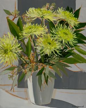 """""""Green Chrysanthemums"""" by Kate Longmaid - Uploaded by Kate Longmaid"""