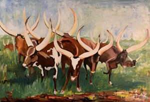 """""""Long-Horned Cows"""" by Mwanga William - Uploaded by dpeel"""