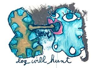 """COURTESY OF NEK ARTISANS GUILD - """"Dog Will Hunt"""" by Teresa Celemin"""