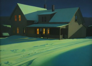 "COURTESY OF EDGEWATER GALLERY - ""Winter Night Light,"" painting by Kathleen Kolb"