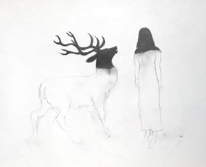 COURTESY OF NVU-JOHNSON - Untitled graphite drawing by Cynthia Bowler