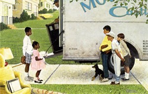 "COURTESY OF THE HYDE COLLECTION - ""New Kids in the Neighborhood,"" painting by Norman Rockwell"