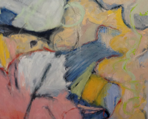 """COURTESY OF THE GALLERY AT MAIN STREET LANDING - Detail of """"Brass Knuckles,"""" painting by James Vogler"""