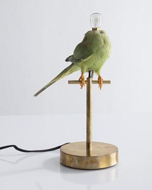 "COURTESY OF THE ARTIST AND SHELBURNE MUSEUM - ""Waiting (Single Perch Lamp)"" by Sebastian Errazuriz"