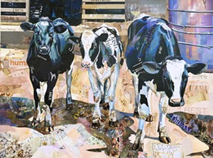 """COURTESY OF EDGEWATER GALLERY - """"Dear Dairy"""" by Betsy Silverman"""