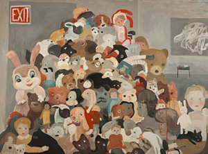 "COURTESY OF BRATTLEBORO MUSEUM & ART CENTER - ""Barricade"" by Kelly Popoff"