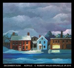 """COURTESY OF NVAA - """"December Dusk,"""" painting by Robert Waldo Brunelle Jr."""