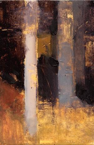 "COURTESY OF VERMONT STUDIO CENTER - ""Woods Edge 12.9.15.,"" painting by Joseph Salerno"