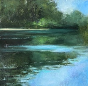 """COURTESY OF EDGEWATER GALLERY - """"Water's Edge"""" by Julia Purinton"""