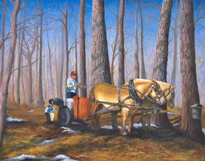 "COURTESY OF ART'S ALIVE - ""Springtime Traditions,"" painting by Ann Allen"