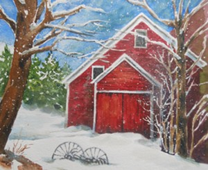 """Winter Barn"" by Kate Reeves - Uploaded by kate Reeves"