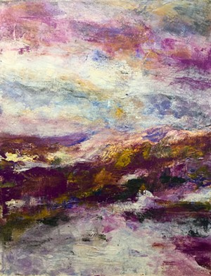 "COURTESY OF AXEL'S GALLERY & FRAMESHOP - ""Wabi Sabi Mountain,"" painting by Kate Fetherston"