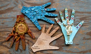 COURTESY OF PENNY CLUSE CAFÉ - Clockwise from upper left: hands decorated by Jess Polanshek, Sandi Kern, Matt Gang and Barbara Hoke