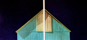 """COURTESY OF EDGEWATER GALLERY - """"Barn With Shadows"""" by Victoria Blewer"""
