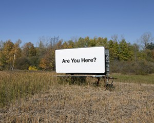 """COURTESY OF BRATTLEBORO MUSEUM & ART CENTER - Photograph from """"Are You Here?"""" by Jonathan Gitelson"""