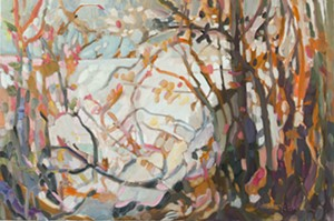 """COURTESY OF EDGEWATER GALLERY - """"Out of Focus,"""" oil painting by Donna Andreychuk"""
