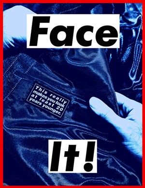 """""""Face It (Blue)"""" by Barbara Kruger - Uploaded by Maryseb14c"""