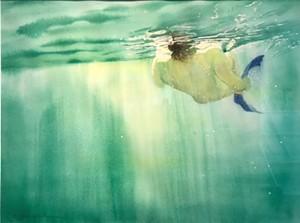 "COURTESY OF RIVER ARTS - ""Blue Fins of Freedom"" by Asheley Kapelewski"