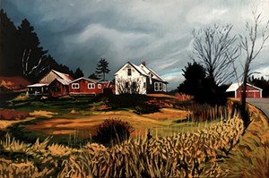 """COURTESY OF AXEL'S GALLERY & FRAME SHOP - """"North Wolcott,"""" oil by Jennifer Hubbard"""
