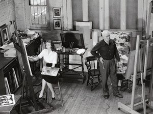Virginia and Adolf Dehn in their studio - Uploaded by The Bundy Modern Gallery