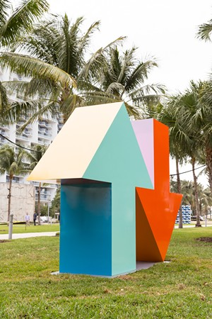 Arrow Sculpture by Tony Tasset and Kavi Gupta - Uploaded by The Current
