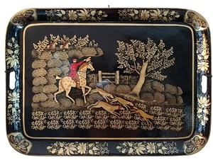 COURTESY OF BRANDON ARTISTS GUILD - Tray by Dolores Furnari