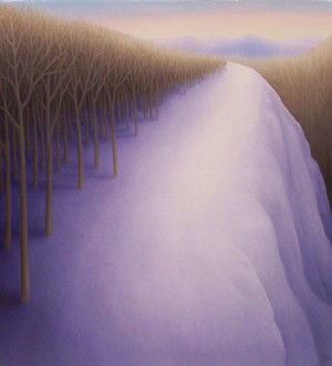 "COURTESY OF FURCHGOTT SOURDIFFE GALLERY - ""Winter Hill"" by Laura Von Rosk"