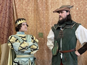 COURTESY OF VERMONT SUITCASE - Cass Dunn and Wyndham Maxwell as Prince John and Robin Hood