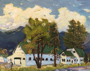 """COURTESY OF TUNBRIDGE PUBLIC LIBRARY - """"Vermont Route 14"""" by Joan Hoffman"""