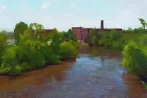 "COURTESY OF EDGEWATER GALLERY - ""June Flood,"" oil painting by TJ Cunningham"