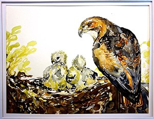"COURTESY OF PETRA CLIFFS - ""Red Tail Hawk Family"" by Nancy Tomczak"