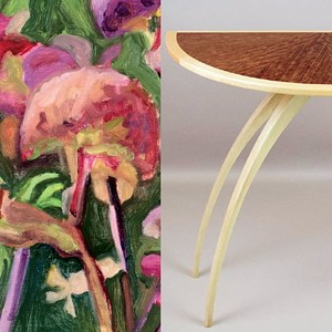 COURTESY OF BRANDON ARTISTS GUILD - Painting by Grace Mellow and table by Richard Haver