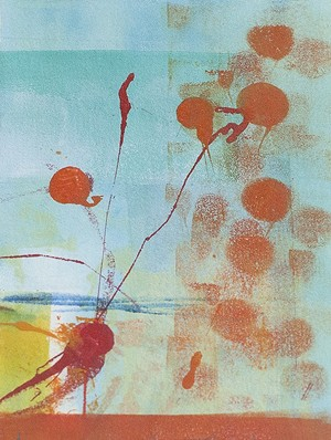 COURTESY OF GREEN MOUNTAIN FINE ART - Monotype print by Patty Castellini