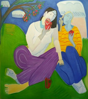"""COURTESY OF BENNINGTON MUSEUM - """"Apple Eaters,"""" painting by Mark Barry"""