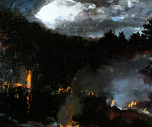 "COURTESY OF CATAMOUNT ARTS - ""March Fires (After Rembrandt)"" by Eric Aho"