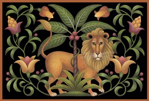 "COURTESY OF COMPASS MUSIC AND ARTS - ""Fantasia Lion,"" painting by Stephanie Stouffer"