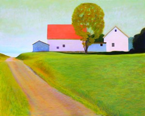 """COURTESY OF EDGEWATER GALLERY - """"Attachment,"""" oil painting by Kathryn Milillo"""