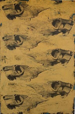 "COURTESY OF FURCHGOTT SOURDIFFE GALLERY - ""Skull 3"" by Jane Ann Kantor"