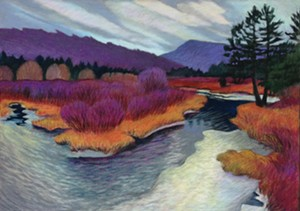 """COURTESY OF FROG HOLLOW VERMONT CRAFT GALLERY - """"Thin Ice,"""" pastel by Marilyn Ruseckas"""