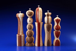 COURTESY OF COLLECTIVE — THE ART OF CRAFT - Wood pepper mills by Detlev Hundsdorfer
